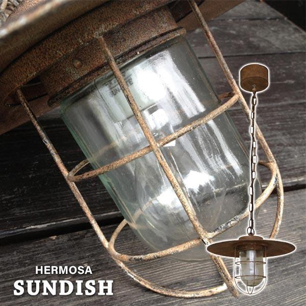 ペンダントライト 一灯 1灯 ランプ レトロ ペンダント アンティーク 照明 天井 ライト デザイン照明 LED対応 ガラス スチール 天井照明 ヴィンテージ風 おしゃれ アメリカン ヴィンテージ シャビー 傘取り外し可能 ダメージ加工 GD-005 SUNDISH