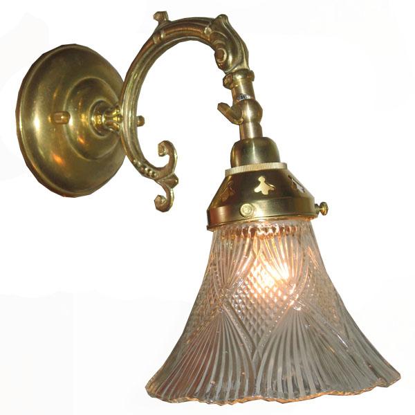 ブラケット照明 階段 ブラケット 照明 壁掛け ガラス アンティーク ウォールランプ 照明器具 レトロ ブラケットライト カントリー 1灯 ライト クラシカル ガラスシェード 壁 ウォールライト e17 60W 灯具 ブラケットランプ 玄関 壁掛け照明 屋内用 C-WW220G