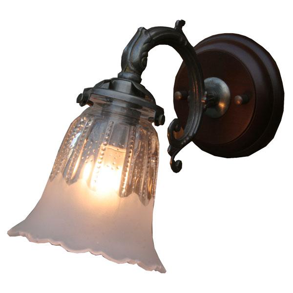ブラケット 照明 アンティーク 壁掛け ブラケットランプ ウォールランプ レトロ ブラケット照明 ブラケットライト カントリー 1灯 ガラス ライト クラシカル ガラスシェード 壁 ウォールライト e17 60W ブラケットランプ 廊下 壁掛け照明 屋内用 FC-WW530A 1821