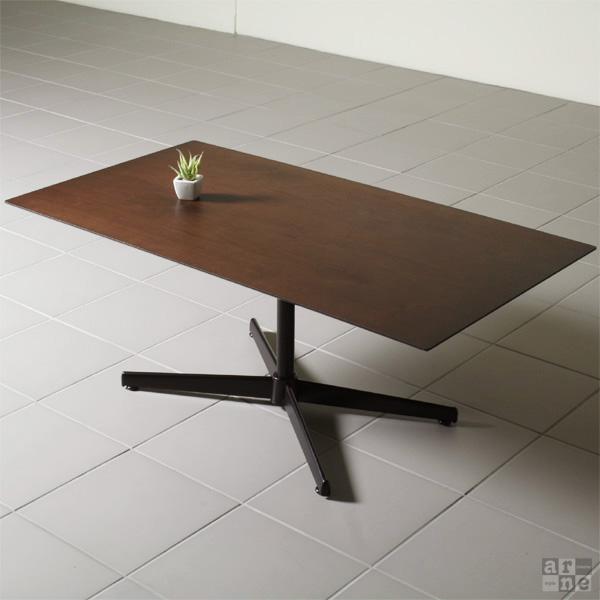 一本脚 ダイニングテーブル 4人掛け 低め テーブル ウォールナット ロータイプ ソファー 高級感 ソファ 木 ダイニング リビング カフェ風 カフェ 単品 食卓 4人 木製 日本製 食卓テーブル おしゃれ 机 シンプル 100 天然木 長方形 Bistro 110LT Type1
