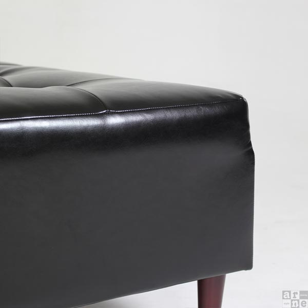 ベンチソファベンチソファー背もたれなし合皮レザーソファソファーベンチソファソファベンチソファーベンチスツールロビーチェアロビーソファロビーベンチワイドスツール四角レッドブラック合成皮革日本製おしゃれBaggyCube6×6