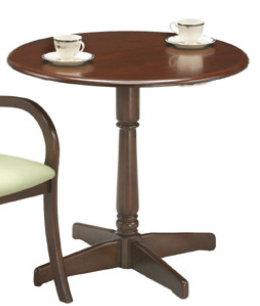 カフェテーブル アンティーク 1本脚 ソファ ラウンド 一人暮らし 円形 おしゃれ ラウンドテーブル インテリア カフェテーブル 丸 ダイニングテーブル 丸テーブル センタテーブル リビング ダイニング 休憩室 食卓テーブル 木製 食卓 作業台  直径75cm 高さ70cm
