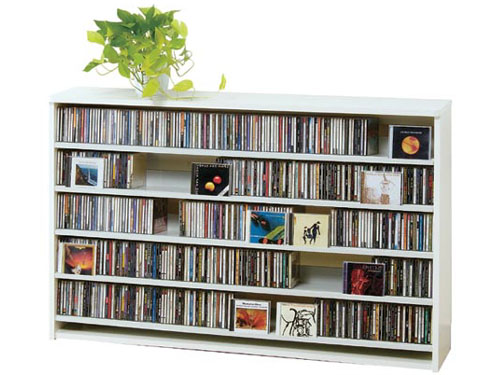 CDラック 横 スリム 大容量 おしゃれ cd ラック DVD 収納 ディスプレー 棚 通販 cd収納ラック cd収納棚 cdボックス 薄型 DVDラック dvd収納ラック DVDストッカー 壁面収納 収納力 木製 スリムラック  CD最大695枚収納可能 DVD最大180枚収納可能 ホワイト