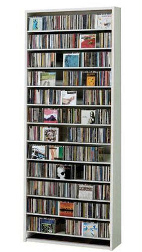CDラック スリム 大容量 おしゃれ cd ラック DVD 収納 ディスプレー 棚 通販 cd収納ラック cd収納棚 cdボックス 薄型 DVDラック CDストッカー ディスプレイラック スリムラック モダン シンプル カジュアル CD最大924枚収納可能 DVD最大400枚収納可能 ホワイト