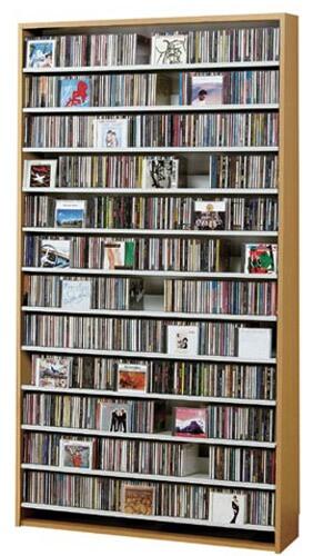 CDラック 大容量 スリム おしゃれ cd ラック DVD 収納 棚 dvdラック 木製  CD最大1284枚収納可能 DVD最大560枚収納可能 ナチュラル