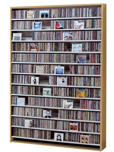 CDラック スリム 大容量 おしゃれ CD ラック DVD 収納 棚 薄型 DVDラック DVDストッカー リビング収納 ディスプレイラック ウッドラック 木製 CD最大1668枚収納可能 DVD最大720枚収納可能 ナチュラル
