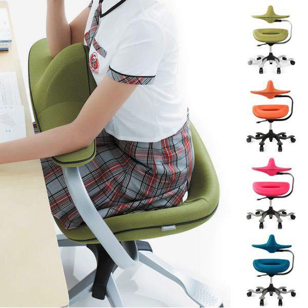 高機能チェア サポートチェア オフィスチェア パソコンチェア 疲れにくい デスクチェア 肘 コンパクト 高さ調整 腰痛対策 ウリドルチェアー iPole7 アイポールセブン ファブリックタイプ 肘付きタイプ チェア WOORIDUL CHAIR 椅子 姿勢矯正 人間工学 昇降チェア