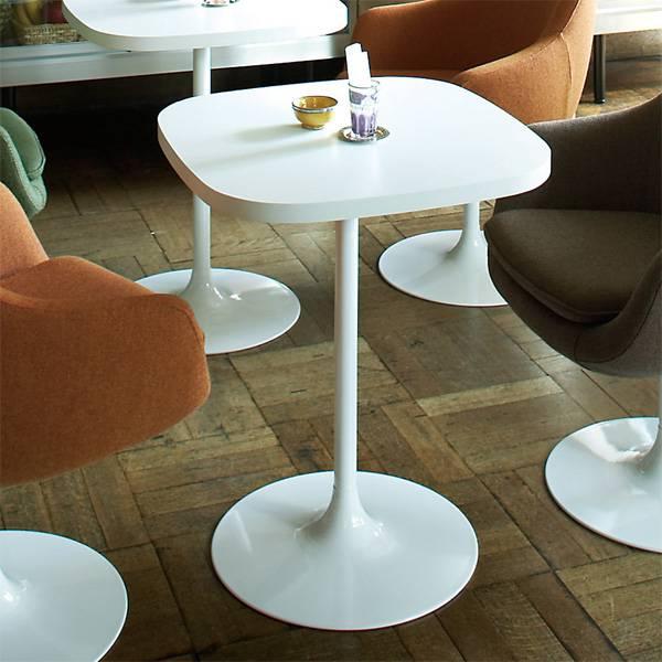 コーヒーテーブル 北欧 カフェテーブル 60 1本脚 ホワイト カフェ テーブル シンプル 白 インテリア 一人 センターテーブル デスク ダイニングテーブル 応接テーブル スクエアテーブル 高級感 店舗用テーブル SWITCH スウィッチ KA Table ラウンド脚