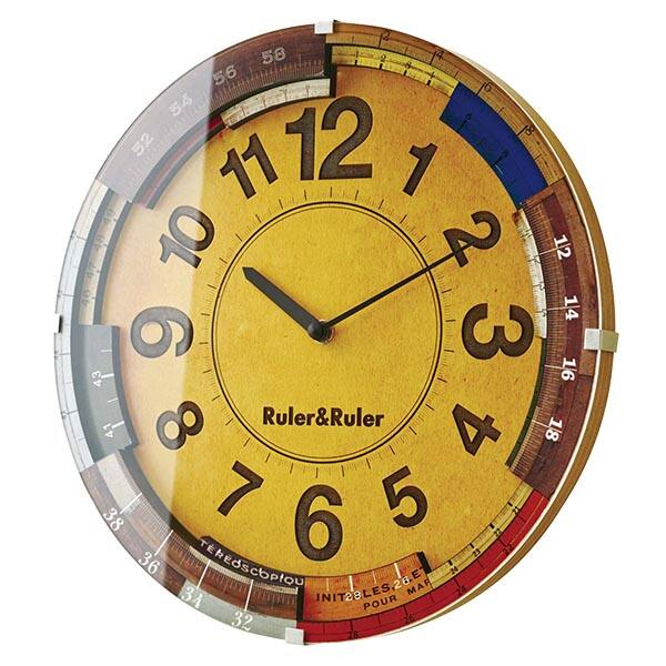 壁掛け時計 電波時計 掛け時計 かわいい 壁掛け ウォールクロック アナログ時計 おしゃれ 北欧 アンティーク ナチュラル 電波 時計 壁掛 レトロ 子供部屋 壁時計 電波壁掛け時計 電波掛時計 見やすい リビング 電波掛け時計 アナログ アナログ表示 CL-9584 Ruler&Ruler