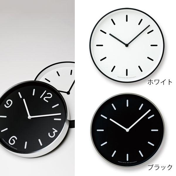掛け時計 壁掛け時計 見やすい アナログ 時計 壁掛け ウォールクロック おしゃれ デザインクロック デザイン時計 モノクロック MONO clock LC10-20B ホワイト ブラック モノトーン リビング ダイニング カフェ オフィス モダン北欧 デザイナーズ 奈良雄一 Lemnos レムノス