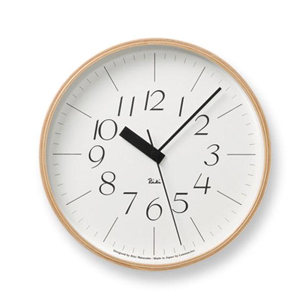 壁掛け時計 見やすい 電波時計 掛け時計 壁時計 電波 時計 掛時計 ウォールクロック 電波壁掛け時計 デザイン時計 リビング デザイナー ダイニング カフェ オフィス 北欧 モダン ナチュラル デザイナーズ 渡辺 力 リキクロック RIKI CLOCK RC WR07-10 Lemnos レムノス 新生活