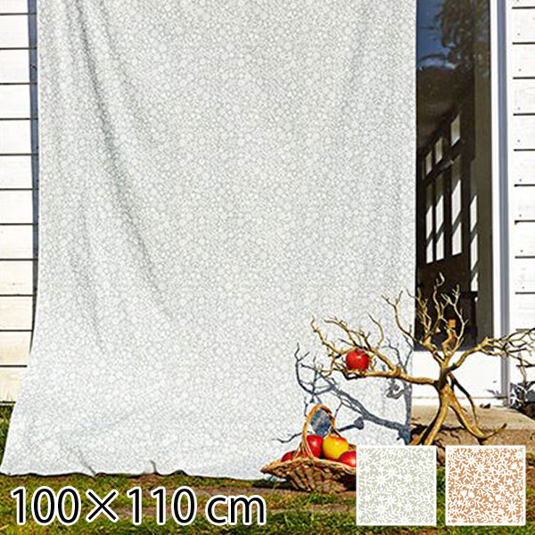 カーテン 既成ドレープカーテン 花柄 100×110cm フラワー 北欧 QUARTER REPORT Kirie Kobana キリエコバナ 日本製