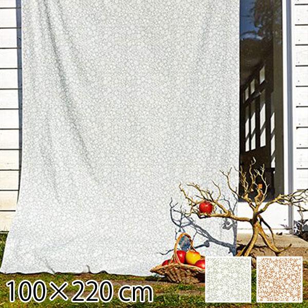 カーテン 既成ドレープカーテン 花柄 100×220cm フラワー 北欧 QUARTER REPORT Kirie Kobana キリエコバナ 日本製