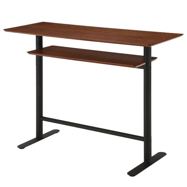 カウンターテーブル 120 カフェテーブル 幅120cm バーテーブル 木製テーブル 北欧 ハイテーブル カフェ テーブル ウォールナット バーカウンター カウンター 高さ90cm 収納 モダン ダークブラウン 作業台 インテリア レトロ コーヒーテーブル 机 デスク おしゃれ
