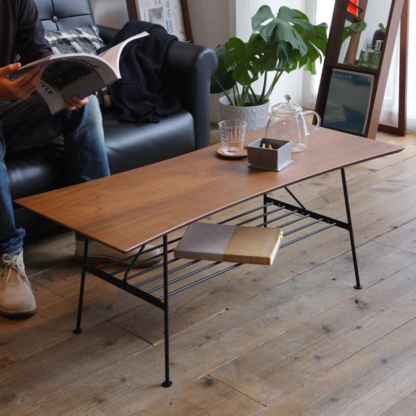 ローテーブル アンティーク 北欧 棚付き 木製 ソファ テーブル おしゃれ センターテーブル 座卓 カフェテーブル 幅100cm ブラウン リビングテーブル コンパクト ソファーテーブル 棚 収納 ラック レトロ モダン 応接テーブル カントリー アンセム ANT-2391 anthem