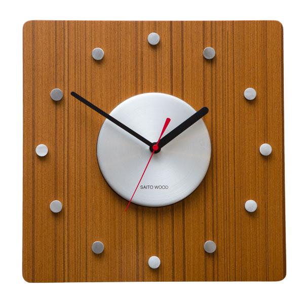 【50%OFF】 壁掛け時計 北欧 木製 サイトーウッド CL-01T おしゃれ 掛時計 かけ時計 時計 壁掛け 日本製 saitowood カフェ シンプル ナチュラル かわいい ウォールクロック 掛け時計 四角 インテリア お祝い ギフト【hzs】