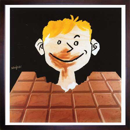 アートパネル レイモン・サヴィニャック アートフレーム インテリアアート アート フレーム 北欧 壁掛け インテリア ポスター 雑貨 壁 飾る 飾り 絵 ポップ パネル ウォールパネル 北欧 モダン ギフト ZRS10184 Raymond Savignac Chocolat チョコレート