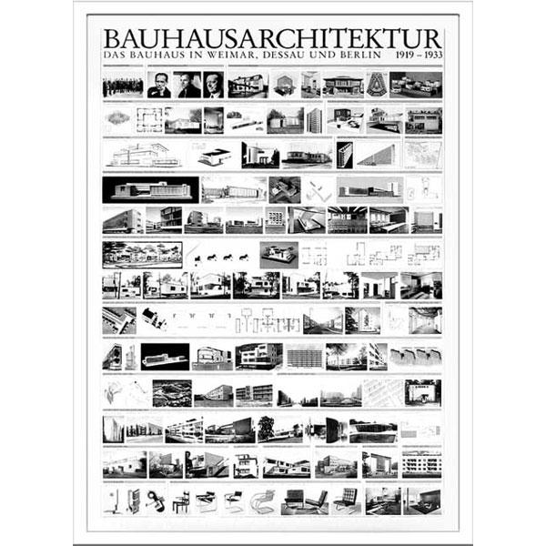ポスター アート 壁掛け 装飾 壁面アート モダン アートパネル おしゃれ 額 アートフレーム アート フレーム 雑貨 壁 飾る Bauhaus バウハウス IBH 70041 Bauhaus Architektur 1919-1933  北欧 モダン トイレ 寝室 ダイニング リビング 子供部屋 インテリア カフェ