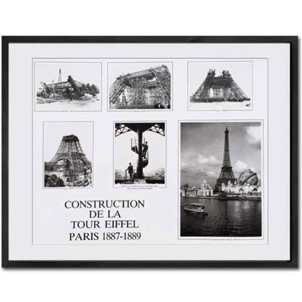 フォトパネル フォトフレーム アートポスター アートパネル レトロ アンティーク 北欧 フレーム パネル ポスター アートフレーム インテリア モダン 壁掛け 写真 インテリアアート アート IPG51320 CONSTRUCTION DE LA TOUR EIFEEL PARIS1887-1889