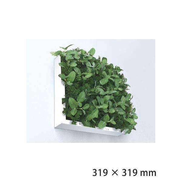 フェイクグリーン 人工観葉植物 壁掛け インテリアグリーン 人工芝 緑 芝生 インテリア 壁面緑化 ウォールフレーム アートフレーム アートパネル 北欧 アートグリーン 人工植物 壁面 パネル フェイク 観葉植物 ISH51649 Shibafu 3 ナチュラルハーブ 300 WH ホワイト 白