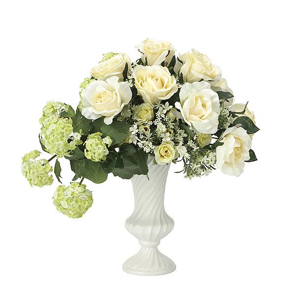 造花 光触媒 観葉植物 インテリア 人気 おしゃれ 花束 アートフラワー ギフト 花 リビング バラ 白 ホワイト