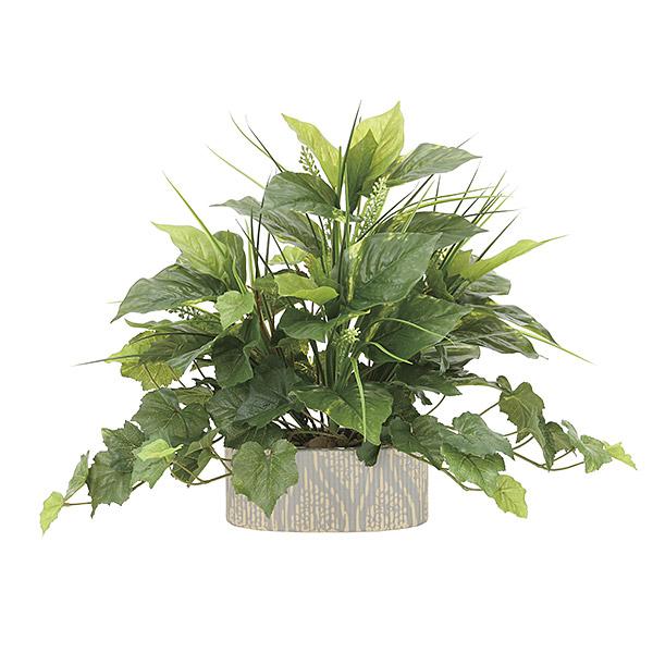 人工観葉植物 光触媒 ミニグリーン 観葉植物 ミニ フェイク グリーン インテリア 人工植物 高さ42cm