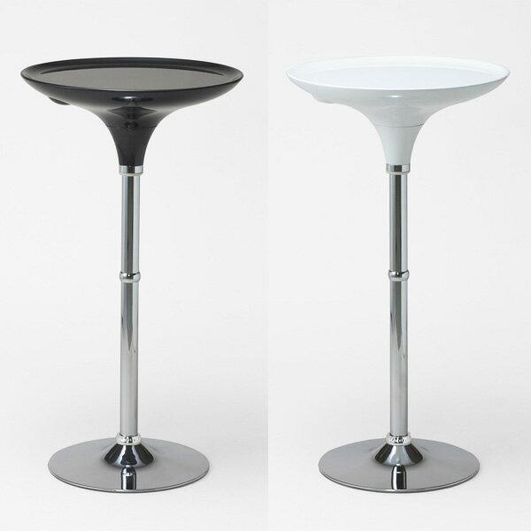 ハイテーブル 丸テーブル 白 北欧 カウンターテーブル 丸 ハイカウンターテーブル バーテーブル バーカウンター テーブル  カウンター ラウンドテーブル ラウンド カフェ ラウンドテーブル カフェテーブル 1本脚 キッチン ダイニング ブラック ホワイト WCH-60 60cm