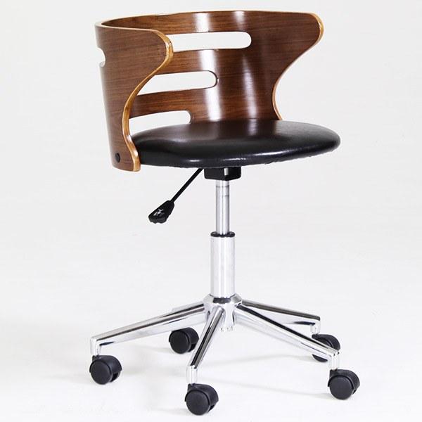 チェア パソコンチェア キャスター キャスター付 PCチェア オフィスチェア 学習椅子 おすすめ おしゃれ オフィス 北欧 モダン 1人掛け 椅子 一人掛け キャスター付き コンパクト アンティーク ナチュラル ブラウン 木製 事務いす STEED CHAIR スティード チェアー HA-006