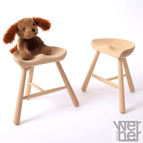 子供 椅子 腰掛け 木製 デザイナーズ 子供椅子 チェア キッズチェア 子供 いす イス 子供用 チェア スツール シューメーカーチェア 子供用いす デザインチェア 北欧 カントリー モダン  Shoemaker Chair No.27 1脚 For kids ナチュラル ワーナー社 無塗装仕上げ