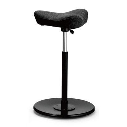 カウンターチェア 高機能チェア バー イス 椅子 バーチェア 背もたれなし チェア バースツール カウンタースツール デザイナーズ リビング ダイニング シンプル モダン 北欧  Move ムーブ ブラック 黒 Varier ヴァリエール ロータイプ 布張り ファブリック