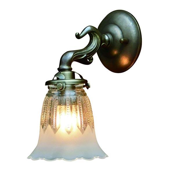 壁掛けライト ウォールライト アンティーク ウォールランプ 1灯 壁掛けランプ 室内用 ガラス おしゃれ インテリアライト 可愛い 照明 ヴィンテージ 北欧 レトロ 照明器具 北欧 廊下 内玄関 ダイニング リビング 寝室 玄関 トイレ 階段 子供 部屋 FC-W732A 1821