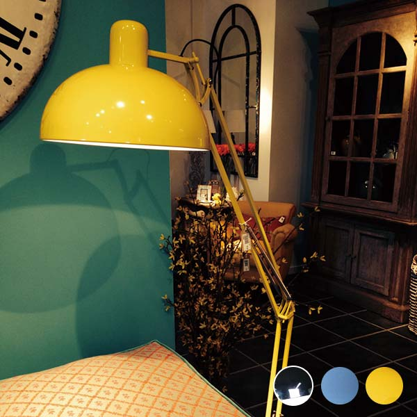 フロアライト スタンド アンティーク調 フロアランプ アンティーク フロアスタンドライト 間接照明 インテリア 照明 フロアスタンド ソファサイド MODERN LAMP Chrome フロアランプ