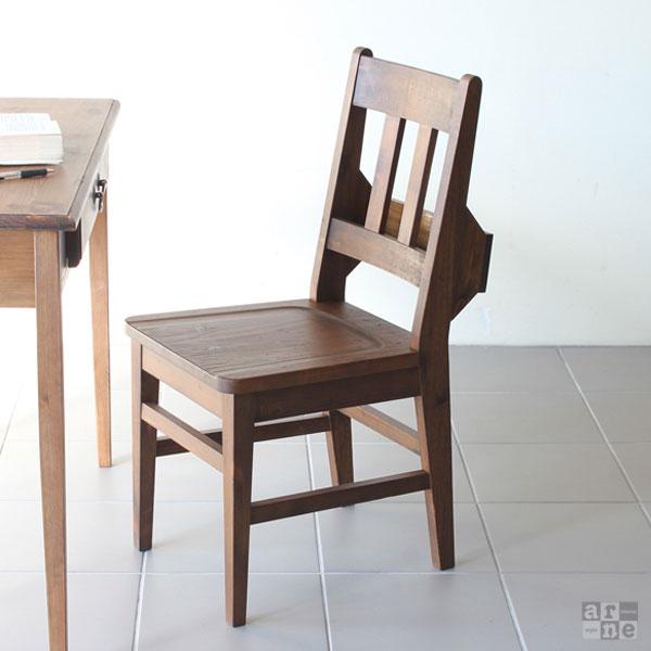 デスクチェア 椅子 木製 おしゃれ ダイニングチェア ダイニング チェア 北欧 背もたれ アンティーク デスクチェアー 収納 一人掛け パソコンチェア PCチェア 収納付き 1人掛け カフェ ダイニングチェアー レトロ 天然木 食卓椅子 ブラウン new arcII チャーチチェア 1脚