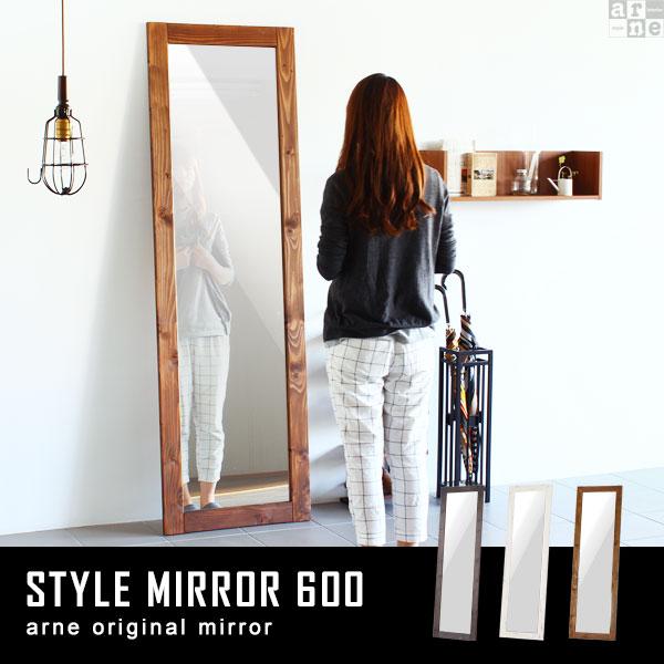 鏡 姿見 全身 アンティーク 鏡 大型 ミラー アジアン スタンドミラー 木製 全身鏡 60cm 飛散防止 ホワイト 60 スリム ウッド 全身かがみ ワイド 日本製 立て掛け おしゃれ 壁面ミラー スタンド 北欧 全身ミラー 大きい フレーム ワイドミラー STYLE MIRROR 600