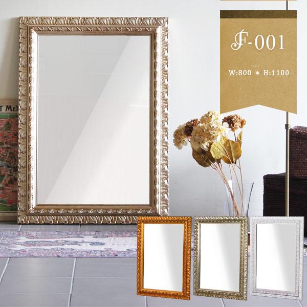 鏡 アンティーク 北欧 ミラー 壁 額 壁掛け 幅広 大型 ウォールミラー 大きい 姿見 全身鏡 壁貼り 壁面ミラー ワイド 日本製 壁掛けミラー 壁掛け鏡 インテリア 玄関 洗面 玄関ミラー 全身かがみ 姫系 姫 飛散防止 縁 ゴールド 金 白 おしゃれ 幅80cm 高さ110cm F-001WM6090