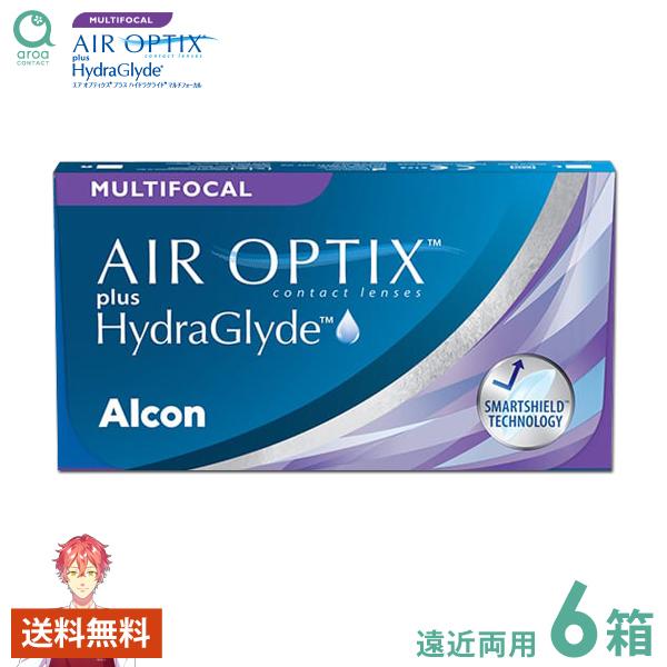 送料無料 エアオプティクスアクア遠近両用 2ウィーク 6枚×6箱 アルコン ALCON 使い捨て