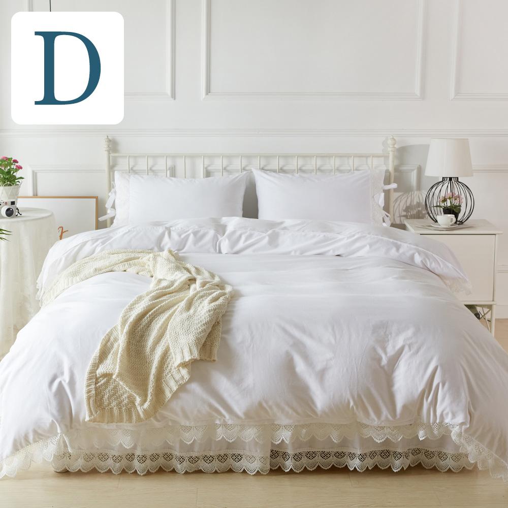 ベッドカバー ダブル アンティークレース ベッドカバー4点セット【ダブルサイズ】ベットカバー マルチカバー 2ピローケース ベッドスカート4点セット |カバー ベッドスプレッド ホワイト 白 ベットスカート