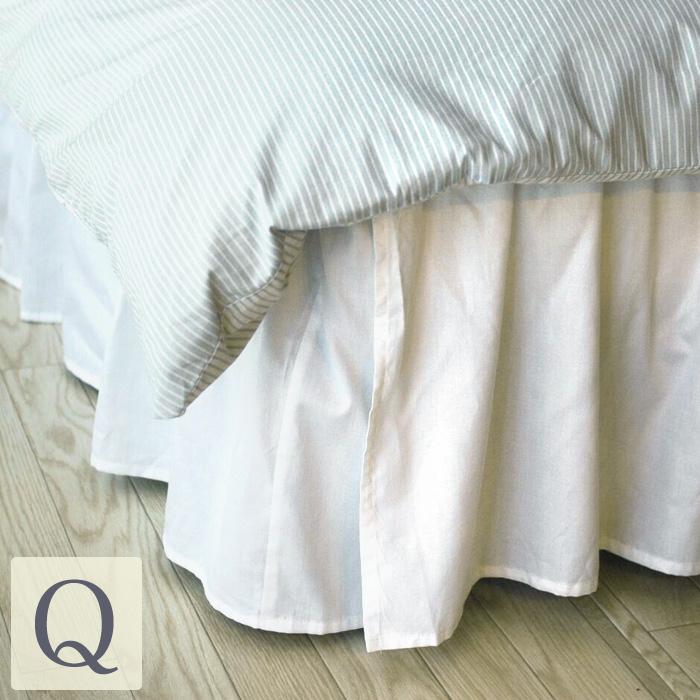 ベーシック ベッドスカート/クイーンサイズ ベーシック ベッドスカート(ベットスカート)/ベッドカバークイーンサイズ用(クイーンサイズ) 布団カバー フリル ベッドスプレッド ボックスシーツ ボックス シーツ ベッドシーツ ホワイト 白 かわいい おしゃれ 寝具 ホテル
