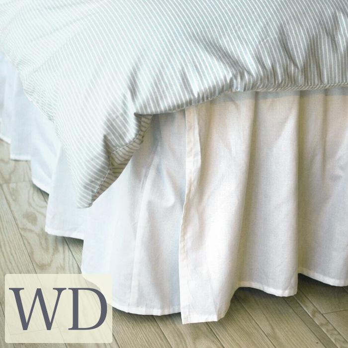 ベッドスカート ワイドダブル/ベーシック ベッドスカート ワイドダブル ベッド スカート日本サイズ仕様/ ベッドカバー ワイドダブルベッド用|布団カバー フリル ベッドスプレッド ボックスシーツ ボックス シーツ ベッドシーツ ホワイト 白 かわいい おしゃれ 寝具 ホテル
