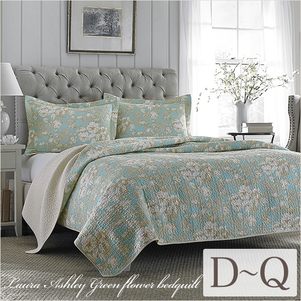 Bedcover Queen Laura Ashley Green Flower Bed Kilt Three Points Set Double Chika Malle Bar 2 Pillow Case