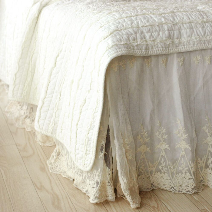 Vintage race bed skirt () bottom skirt (bottom cover) for Bet skirt )/ queen (queen size)