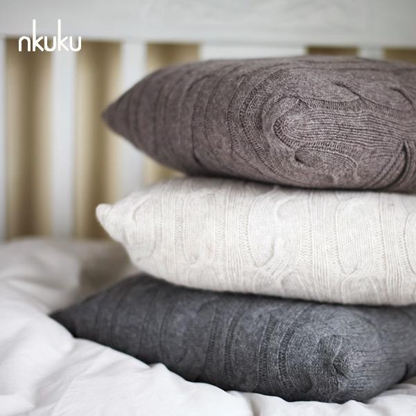 nkuku ラムウール クッションカバー 本体サイズ:42×42cm イギリスの雑貨ブランド nkuku 北欧 かわいい ふわふあ クッションカバー クッション リネン クッションカバー 枕カバー