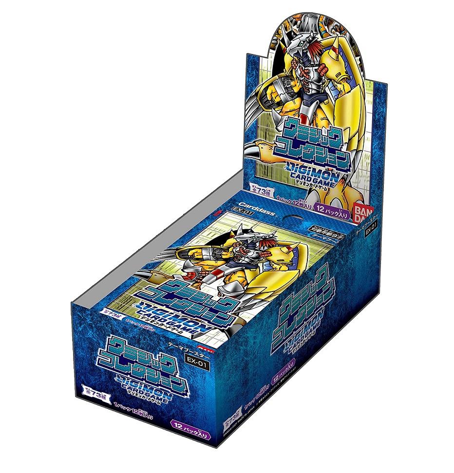 今季も再入荷 送料無料 バンダイ デジタルモンスター サブブースター デジモンカードゲーム クラシックコレクション テーマブースター EX-01 BOX 12パック入り 開店記念セール