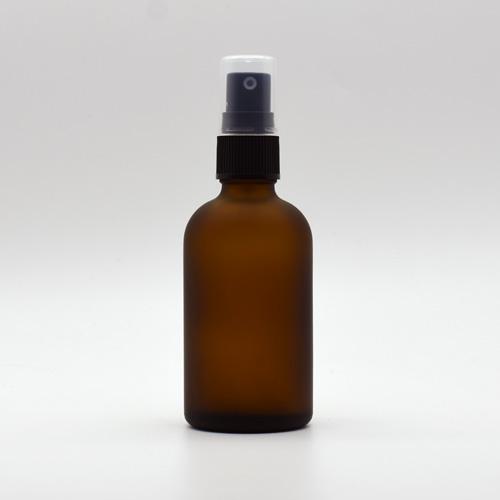 オイルの調合 入替えに便利でオシャレなボトルです 売切終了 現品 茶色 80ml 遮光瓶 スプレー付 フロスト加工ガラスボトル 容器 詰替え 霧吹き 公式 キャップ付き スプレーボトル 噴霧器 アトマイザー アロマスプレー