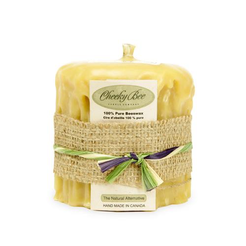 Cheeky Bee ビーズワックスキャンドル ドリップタイプ 《C5G》 Beeswax Candle Dripped Pillars チーキービー◆ホームフレグランス/芳香/アロマキャンドル/ロウソク/ミツロウ/ナチュラル/natural/gift/プレゼント