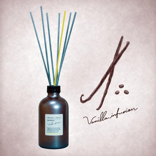 GRASSE TOKYO リードディフューザー 250ml Vanilla infusion バニラインフュージョン Reed Diffuser グラーストウキョウ◆ルームフレグランス/アロマ/フレグランススティック/fragrance/room/aroma/stick/植物由来/ナチュラル/natural