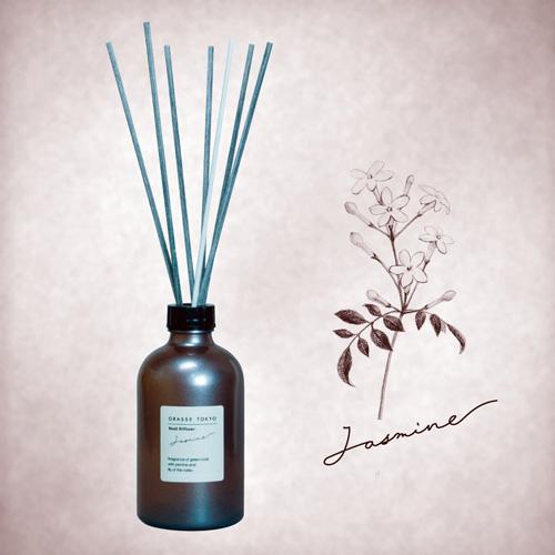 GRASSE TOKYO リードディフューザー 250ml Jasmine ジャスミン Reed Diffuser グラーストウキョウ◆ルームフレグランス/アロマ/フレグランススティック/fragrance/room/aroma/stick/植物由来/ナチュラル/natural
