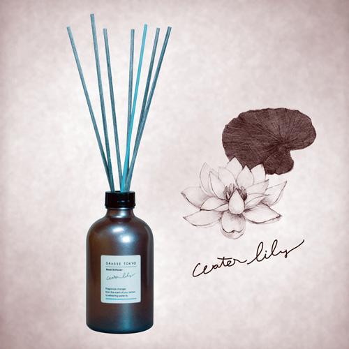 GRASSE TOKYO リードディフューザー 250ml Water lily ウォーターリリー Reed Diffuser グラーストウキョウ◆ルームフレグランス/アロマ/フレグランススティック/fragrance/room/aroma/stick/植物由来/ナチュラル/natural