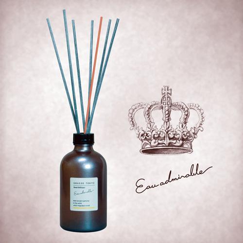 GRASSE TOKYO リードディフューザー 250ml Eau admirable オーアドミラブル Reed Diffuser グラーストウキョウ◆ルームフレグランス/アロマ/フレグランススティック/fragrance/room/aroma/stick/植物由来/ナチュラル/natural