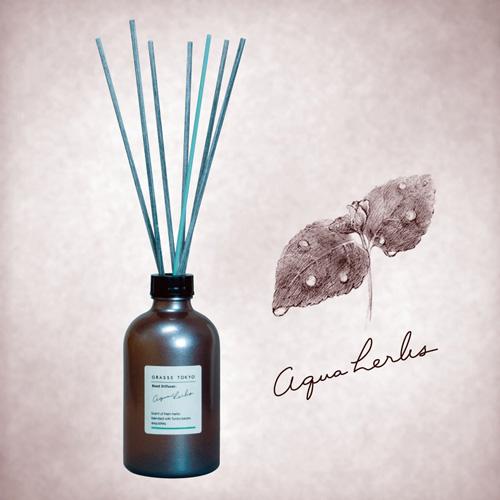 GRASSE TOKYO リードディフューザー 250ml Aqua herbs アクアハーブス Reed Diffuser グラーストウキョウ◆ルームフレグランス/アロマ/フレグランススティック/fragrance/room/aroma/stick/植物由来/ナチュラル/natural